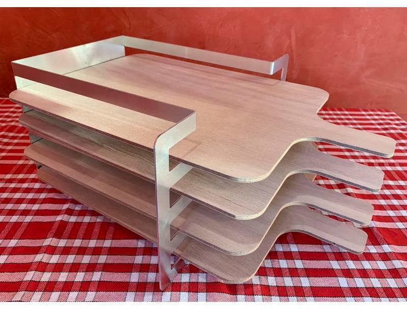 Râtelier 4 niveaux en aluminium - avec planches