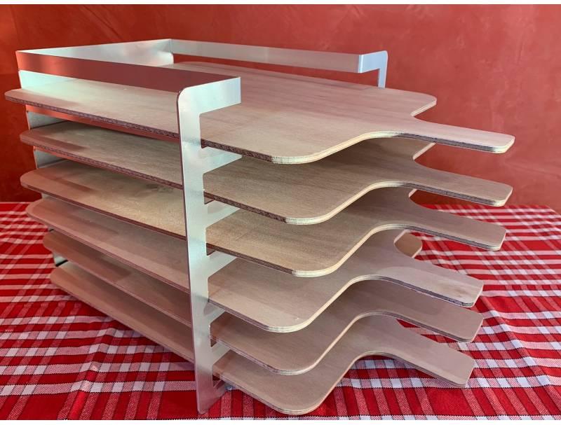 Râtelier 6 niveaux en aluminium - avec planches