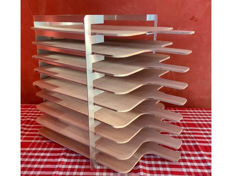 Râtelier 9 niveaux en aluminium - avec planches