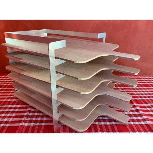 Râtelier 6 niveaux en aluminium - sans planches