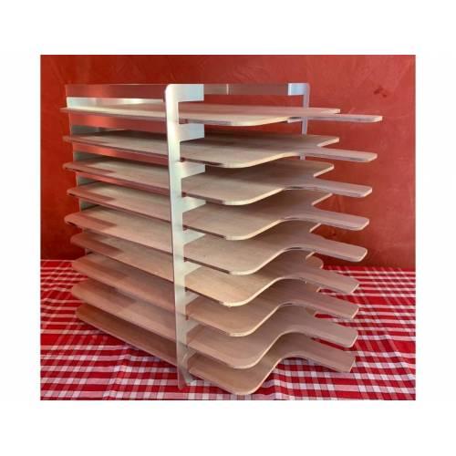 Râtelier 9 niveaux en aluminium - sans panches